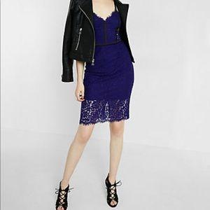 Piped sheath lace dress